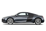 Driver Side Profile View of 2012 Audi R8 V10 FSI Stock Photo