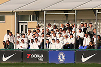 Chelsea staff sit in the stand and look on during Chelsea Under-19 vs AFC Ajax Under-19, UEFA Youth League Football at the Cobham Training Ground on 5th November 2019