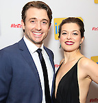 James Snyder and Margo Seibert attends the Broadway Opening Night Performance Press Reception for  'In Transit' at Circle in the Square Theatre on December 11, 2016 in New York City.