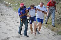 FIERLJEPPEN: GRIJPSKERK: 17-07-2013, 1e Klas wedstrijd, Senioren Topklasse, Hannes Scherjon, ©foto Martin de Jong