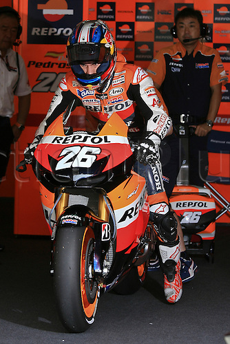 19.10.2012. Sepang, Malaysia.   Dani Pedrosa of Repsol Honda Team during the friday's free practice session for MotoGP class of  Malaysian Motorcycle Grand Prix  held at Sepang International Circuit in Sepang, Malaysia.......