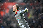 Liverpool goalkeeper Simon Mignolet - Barclays Premier League - Southampton vs Liverpool - St Mary's Stadium - Southampton - England - 22nd February 2015 - Pic Robin Parker/Sportimage