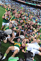 Kerry senior team celebrate in the All-Ireland Football Final  in Croke Park 2014.<br /> Photo: Don MacMonagle<br /> <br /> <br /> Photo: Don MacMonagle <br /> e: info@macmonagle.com