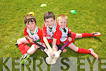 Enjoying the Kelloggs Hurling Cul Camps in Causeway on Friday were: Jack O'Mahoney, Dean McElligott and Cathal Diggin.