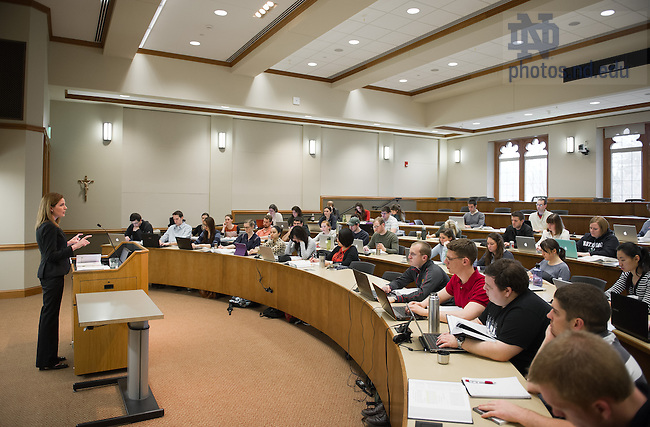 Apr. 11, 2013; Law School admissions photography: Amy Barrett teaches in Eck Hall of Law...Photo by Matt Cashore/University of Notre Dame