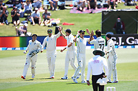 21st November 2019; Mt Maunganui, New Zealand;  Ross Taylor takes a catch in the slips to dismiss Dom Sibley international test match cricket, Day 1, New Zealand versus England at Bay Oval, Mt Maunganui, New Zealand.