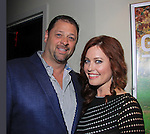"""One Life To Live Melissa Archer poses with her husband Glenn Angelino as she stars in """"West End"""" a film by Joe Basile about Family, Betrayal, Revenge - Greeting from the Jersey Shore - with its premiere at the Soho International Film Festival on April 11, 2013 at the Sunshine Cinema, New York City, New York. (Photo by Sue Coflin/Max Photos)"""