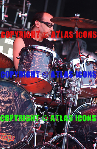 Queensryche; Scott Rockenfield; Live, In New York City, On 6-17-2005<br /> Photo Credit: Eddie Malluk/Atlas Icons.com