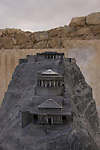 Israel, Judean desert, a model of the Northern Palace in Masada