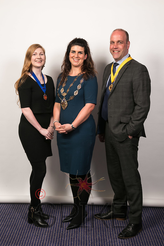 Pictured from left, Laura Pinkney Vice President of Nottinghamshire Law Society, Kathryn Meir, President and Jason Waghorne, Deputy Vice President, Nottinghamshire Law Society