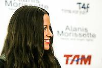 ATENÇÃO EDITOR: FOTO EMBARGADA PARA VEÍCULOS INTERNACIONAIS. - SAO PAULO, 03 DE SETEMBRO DE 2012. ENTREVISTA COLETIVA ALANIS MORISSETTE.  A cantora canadense Alanis Morissette durante entrevista coletiva na casa de shows  Credicard Hall na zona sul de São Paulo na noite da segunda feira. FOTO ADRIANA SPACA - BRAZIL PHOTO PRESS