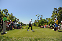 Adam Scott (AUS) watches his tee shot on 2 during round 1 of the Shell Houston Open, Golf Club of Houston, Houston, Texas, USA. 3/30/2017.<br /> Picture: Golffile | Ken Murray<br /> <br /> <br /> All photo usage must carry mandatory copyright credit (&copy; Golffile | Ken Murray)