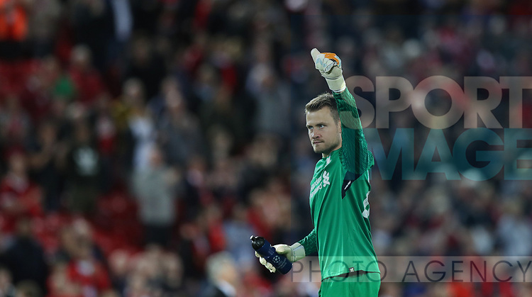 Simon Mignolet of Liverpool during the Champions League playoff round at the Anfield Stadium, Liverpool. Picture date 23rd August 2017. Picture credit should read: Lynne Cameron/Sportimage