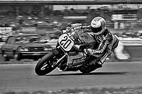 Larry Shorts, #20 Suzuki, Daytona 200, AMA Superbikes, Daytona International Speedway, Daytona Beach, FL, March 9, 1986.(Photo by Brian Cleary/bcpix.com)