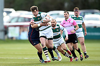 Peter Lydon of Ealing Trailfinders takes on the Doncaster Knights defence. Greene King IPA Championship match, between Ealing Trailfinders and Doncaster Knights on February 9, 2019 at the Trailfinders Sports Ground in London, England. Photo by: Patrick Khachfe / Onside Images