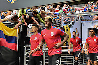 Glendale, AZ - Saturday June 25, 2016: DeAndre Yedlin, Gyasi Zardes prior to a Copa America Centenario third place match match between United States (USA) and Colombia (COL) at University of Phoenix Stadium.