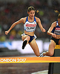 Rosie CLARKE (GBR) in the womens 3000m steeplechase heats. IAAF world athletics championships. London Olympic stadium. Queen Elizabeth Olympic park. Stratford. London. UK. 09/08/2017. ~ MANDATORY CREDIT Garry Bowden/SIPPA - NO UNAUTHORISED USE - +44 7837 394578
