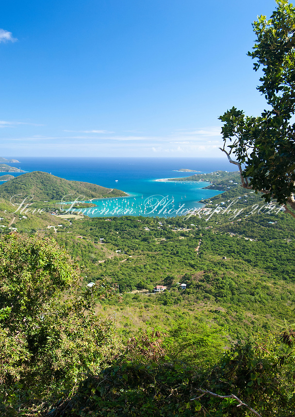 View of Coral Bay .St. John, U.S. Virgin Islands