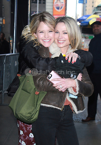 NEW YOK, NY - NOVEMBER 9: Sara Haines and Amy Robach seen after an appearance on Good Morning America in New York City on November 9, 2017. Credit: RW/MediaPunch