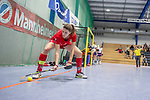 Mannheim, Germany, January 12: During the 1. Bundesliga women indoor hockey match between Mannheimer HC and Ruesselsheimer RK on January 12, 2020 at Irma-Roechling-Halle, Am Neckarkanal in Mannheim, Germany. Final score 5-4. (Photo by Dirk Markgraf / www.265-images.com) *** Celina Hocks #8 of Ruesselsheimer RK