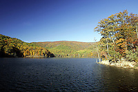 The sugar hallow reservior which leads to the Mormon river in Albemarle County, Va. Credit Image: © Andrew Shurtleff