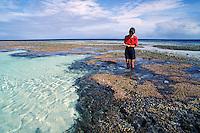 Australia, Queensland, Great Barrier Reef, Heron Island, Marine Biologist Dr. Lexa Grutter.