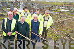 CLEAN UP: Members of the Rural Social Scheme in Cahersiveen, who have been cleaning up Killovarnogue graveyard, front l-r: John Kelly, Joseph McCrohan (South Kerry Development Partnership), Joseph O'Shea. Back l-r: John O'Connor, David O'Neill, Denis Curran, John O'Mahony.