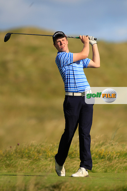 Mark MacGrath (Limerick) on the 2nd tee during Matchplay Round 3 of the South of Ireland Amateur Open Championship at LaHinch Golf Club on Saturday 25th July 2015.<br /> Picture:  Golffile | TJ Caffrey