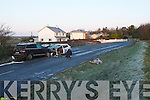 The scene at the Fatal road traffic accident at Clogherbrien, Tralee on Tuesday evening.