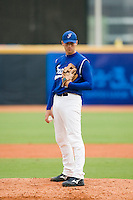 22 August 2007: #19 Nicolas Dubaut pitches against Japan during the Japan 9-4 victory over France in the Good Luck Beijing International baseball tournament (olympic test event) at west Beijng's Wukesong Baseball Field in Beijing, China.