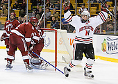 Ryan Ginand (NU - 3) - The Harvard University Crimson defeated the Northeastern University Huskies 3-1 on Monday, February 4, 2008, in the opening game of the 2008 Beanpot at TD Banknorth Garden in Boston, Massachusetts.