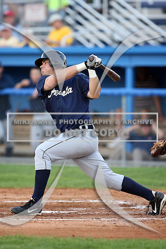 July 23 2008:  Billy Nowlin of the Oneonta Tigers, Class-A affiliate of the Detroit Tigers, during a game at Dwyer Stadium in Batavia, NY.  Photo by:  Mike Janes/Four Seam Images