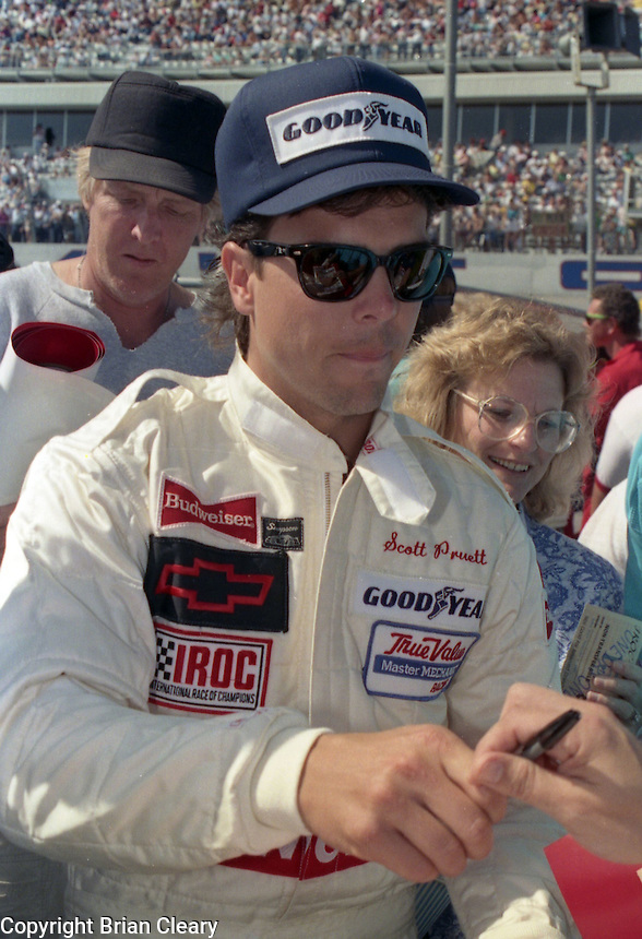 Scott Pruett autograph IROC race at Daytona International Speedway on February 1989.  (Photo by Brian Cleary/www.bcpix.xom)