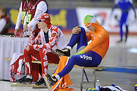 SCHAATSEN: Calgary: Essent ISU World Sprint Speedskating Championships, 28-01-2012, 500m Heren, Aleksey Yesin (RUS), Hein Otterspeer, ©foto Martin de Jong