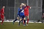 2018-03-03 / Voetbal / Seizoen 2017-2018 / FC Turnhout - Vosselaar / Niels van de Vel (l. Turnhout) met Jonas Nijs <br /> <br /> ,Foto: Mpics.be