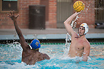 LOS ANGELES, CA - DECEMBER 03:  Matteo Morelli (17) of the University of Southern California shoots the ball during the Division I Men's Water Polo Championship held at the Uytengsu Aquatics Center on the University of Southern California campus on December 3, 2017 in Los Angeles, California. UCLA defeated USC 5-7 to win the National Championship. (Photo by Justin Tafoya/NCAA Photos via Getty Images)