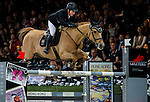 Gerco Schroder of Netherlands riding Glock's Prince de Vaux in action during the Laiterie De Montaigu Trophy as part of the Longines Hong Kong Masters on 14 February 2015, at the Asia World Expo, outskirts Hong Kong, China. Photo by Victor Fraile / Power Sport Images