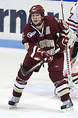 Ben Smith (BC - 12) - The Northeastern University Huskies defeated the Boston College Eagles 3-2 on Friday, February 19, 2010, at Matthews Arena in Boston, Massachusetts.