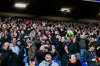 Saturday 25 January 2014<br /> Pictured: Swansea Fans<br /> Re: Birmingham City v Swansea City FA Cup fourth round match at St. Andrew's Birimingham