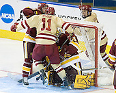Wade Bergman (Duluth - 28), Pat Mullane (BC - 11), Kenny Reiter (Duluth - 35), Johnny Gaudreau (BC - 13) - The Boston College Eagles defeated the University of Minnesota Duluth Bulldogs 4-0 to win the NCAA Northeast Regional on Sunday, March 25, 2012, at the DCU Center in Worcester, Massachusetts.