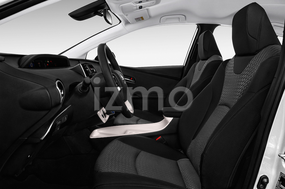 Front seat view of 2016 Toyota Prius Comfort 5 Door Hatchback Front Seat  car photos