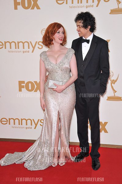 Christina Hendricks arriving at the 2011 Primetime Emmy Awards at the Nokia Theatre, L.A. Live in downtown Los Angeles..September 18, 2011  Los Angeles, CA.Picture: Paul Smith / Featureflash