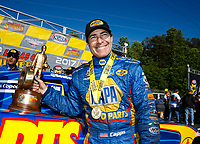 May 7, 2017; Commerce, GA, USA; NHRA funny car driver Ron Capps celebrates after winning the Southern Nationals at Atlanta Dragway. Mandatory Credit: Mark J. Rebilas-USA TODAY Sports