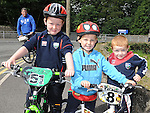 Ben, Tadhg and Calum Caffrey who took part in the Ardee Cycle club Mystery cycle tour. Photo: Colin Bell/pressphotos.ie