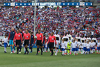 East Hartford, CT - Saturday July 01, 2017: Walk out during an international friendly game between the men's national teams of the United States (USA) and Ghana (GHA) at Pratt & Whitney Stadium.