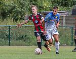 2018-07-29 / Voetbal / seizoen 2018 -2019 / GR Katelijne - KFC Duffel/ Gyllian Van Vaerenbergh (l.GR Katelijne) met Danti Morais  ,Foto: Mpics.be