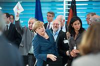 Bundeskanzlerin Angela Merkel (CDU) kommt am Dienstag (25.05.13) im Bundeskanzleramt in Berlin zum 6. Integrationsgipfel..Foto: Axel Schmidt/CommonLens