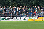08.09.2018, pk-Sportpark, Cloppenburg, GER, FSP, SV Meppen vs Werder Bremen <br /> <br /> DFL REGULATIONS PROHIBIT ANY USE OF PHOTOGRAPHS AS IMAGE SEQUENCES AND/OR QUASI-VIDEO.<br /> <br /> im Bild / picture shows<br /> Banner, Spruchband der Fans &quot;K&auml;mpft f&uuml;r Europa!&quot;, <br /> <br /> Foto &copy; nordphoto / Ewert