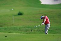 Padraig Harrington (IRL) plays his 2nd shot on the 9th hole during Sundays Final Round 3 of the 54 hole Iskandar Johor Open 2011 at the Horizon Hills Golf Resort Johor, Malaysia, 19th November 2011 (Photo Eoin Clarke/www.golffile.ie)