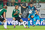 18.08.2011, Keine-Sorgen-Arena, Ried, AUT, UEFA EL, PLAYOFF, SV RIED (AUT) vs PSV EINDHOVEN (NED), Hinspiel, im Bild Stefan Lexa (SV Ried, #8) vs Kevin Strootman (PSV Eindhoven, #6) // during the UEFA Europaleague, 1st Leg Playoff Match, SV Ried against PSV Eindhoven at Keine-Sorgen-Arena, Ried, Austria on 2011-08-18, EXPA Pictures © 2011, PhotoCredit: EXPA/ J. Feichter